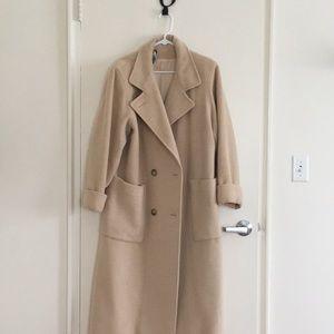 Camel coat- double breasted - Paul Levy Designs